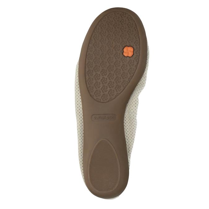 Leather ballet pumps with flexible topline bata, beige , 526-8617 - 26