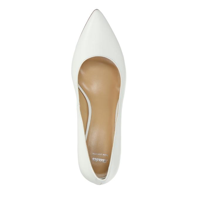 Ladies´ leather pumps bata, white , 624-1632 - 19