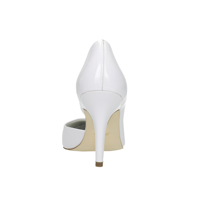 White pointed leather pumps insolia, white , 728-1635 - 17