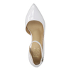 White leather pumps with ankle strap insolia, white , 728-1640 - 19