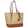 Shopper handbag with braided pattern gabor-bags, beige , 961-8073 - 13