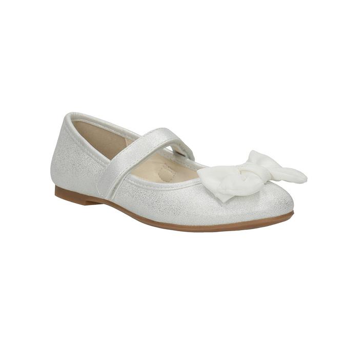 Children´s ballerina shoes with a ribbon mini-b, white , 321-1247 - 13