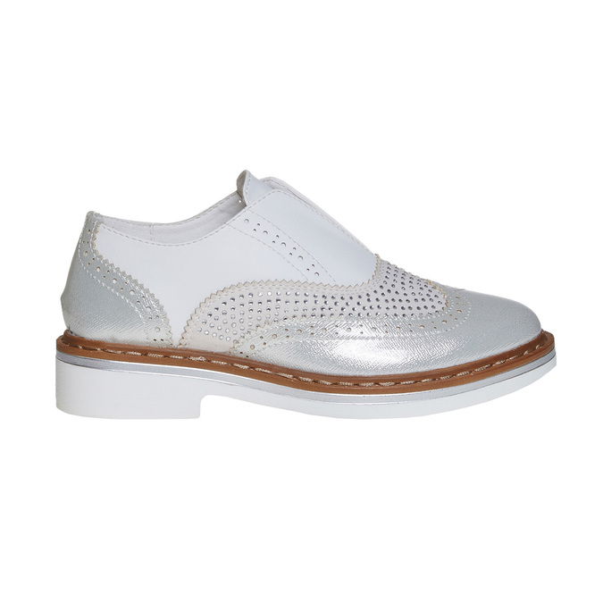 Children's shoes with rhinestones mini-b, silver , 321-2246 - 15
