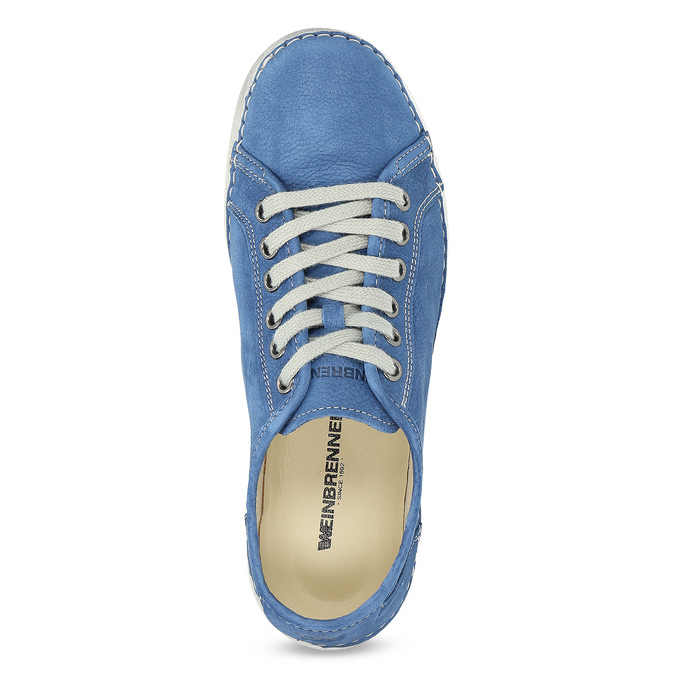 Casual leather low shoes weinbrenner, blue , 546-9603 - 17