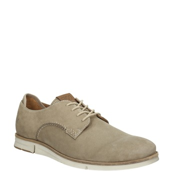 Casual leather shoes weinbrenner, beige , 846-8630 - 13