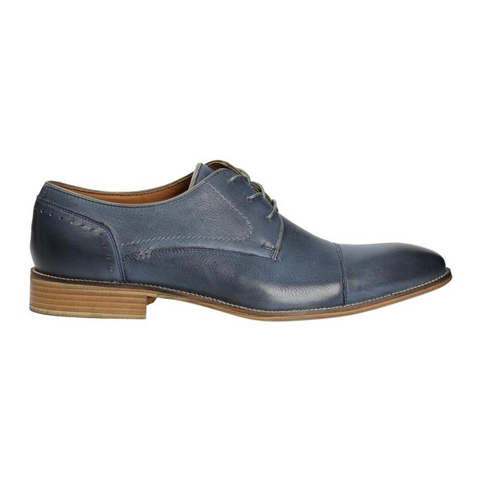 Blue leather shoes bata, blue , 826-9801 - 15