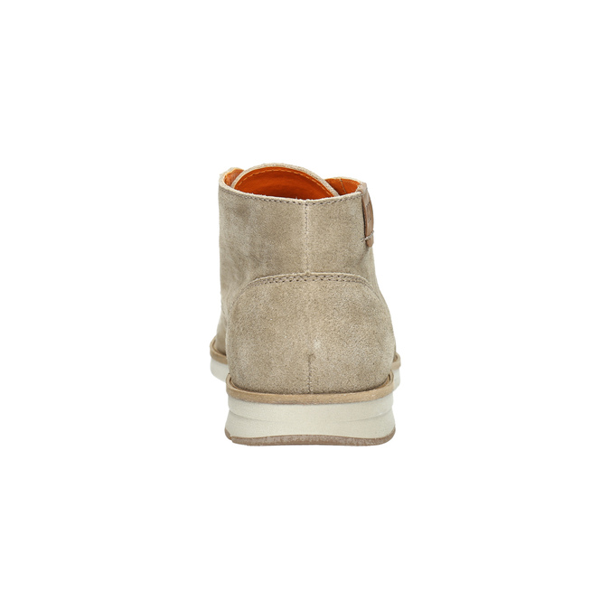 Brushed leather ankle boots weinbrenner, beige , 843-4625 - 17
