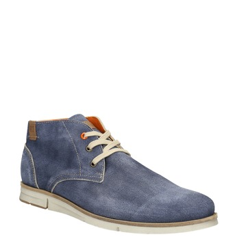 Brushed leather ankle boots weinbrenner, blue , 843-9625 - 13