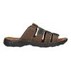 Men's leather slip-ons bata, brown , 866-4611 - 15