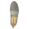 Ladies' leather slip-ons weinbrenner, gray , 513-2263 - 19