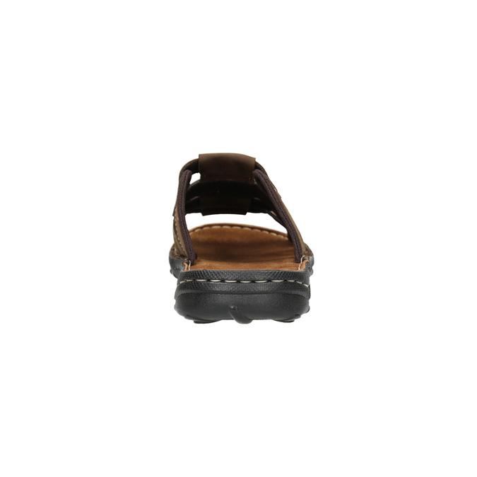 Men's leather slip-ons bata, brown , 866-4611 - 17