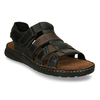 Men's leather sandals bata, brown , 866-4610 - 13
