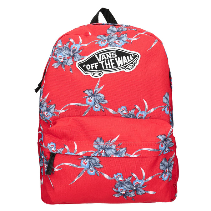 Red patterned backpack vans, red , 969-5093 - 19