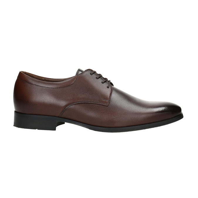 Men's leather Derby shoes bata, brown , 824-4752 - 15