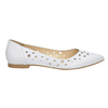 White leather ballet pumps bata, white , 524-1604 - 15