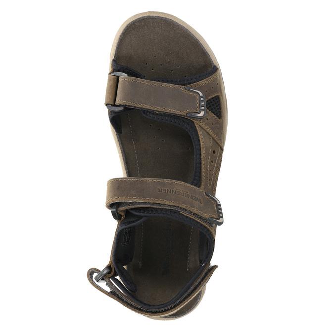 Men's leather sandals weinbrenner, brown , 866-3630 - 19