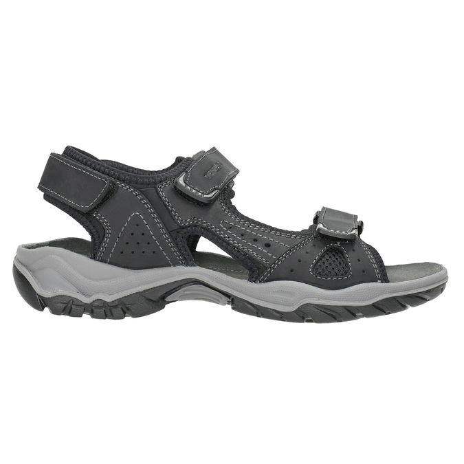 Men's leather sandals weinbrenner, black , 866-6630 - 15