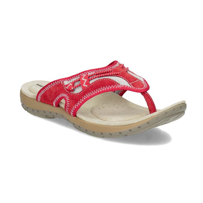 Ladies' flip-flops with a distinctive sole weinbrenner, red , 566-5611 - 13