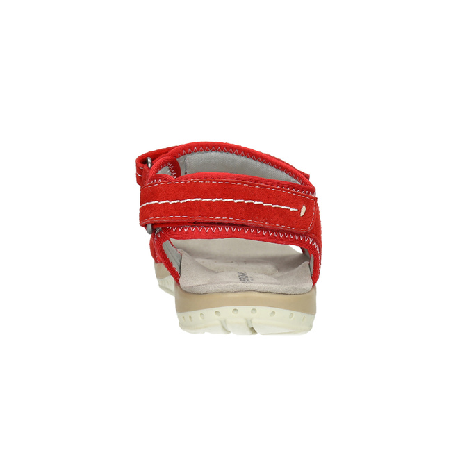 Ladies' red leather sandals weinbrenner, red , 566-5608 - 17