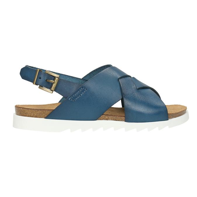 Ladies' leather sandals weinbrenner, blue , 566-9628 - 15