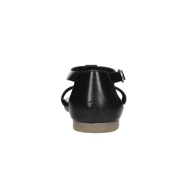 Black leather sandals bata, black , 564-6600 - 17