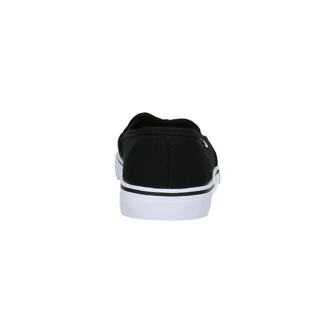 Ladies' black slip-ons tomy-takkies, black , 589-6170 - 17