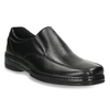 Men's leather moccasins, black , 814-6622 - 13
