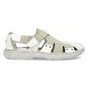 Men's leather sandals bata, white , 866-1622 - 19