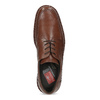 Brown leather dress shoes fluchos, brown , 824-3451 - 17