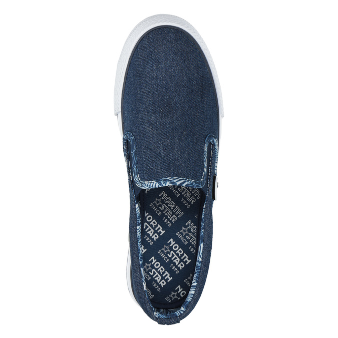 Ladies' denim slip-ons north-star, blue , 589-9440 - 19