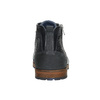 Leather ankle boots with a zipper bata, blue , 826-9911 - 17