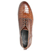 Ladies' leather textured oxford shoes bata, brown , 526-4637 - 19