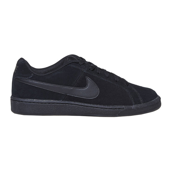 Men's leather sneakers nike, black , 803-6302 - 15