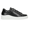 Leather sneakers with a distinctive sole bata, black , 526-6641 - 15