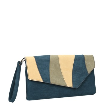 Ladies' blue clutch with wrist strap bata, blue , 969-9664 - 13