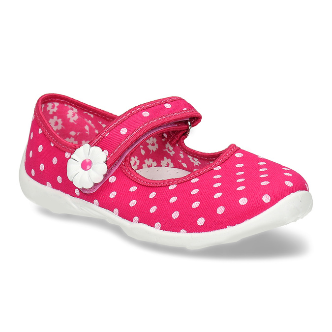 House slippers with polka dots, pink , 379-5214 - 13