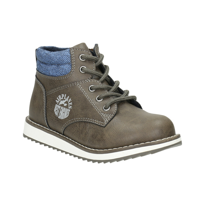 Boys' ankle boots mini-b, brown , 211-3623 - 13