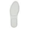 Ladies' leather slip-ons bata, gray , 516-1614 - 19