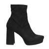 Ladies' high boots with a distinctive heel bata, black , 799-6664 - 15