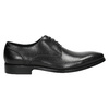 Black leather Derby shoes bata, black , 824-6405 - 15