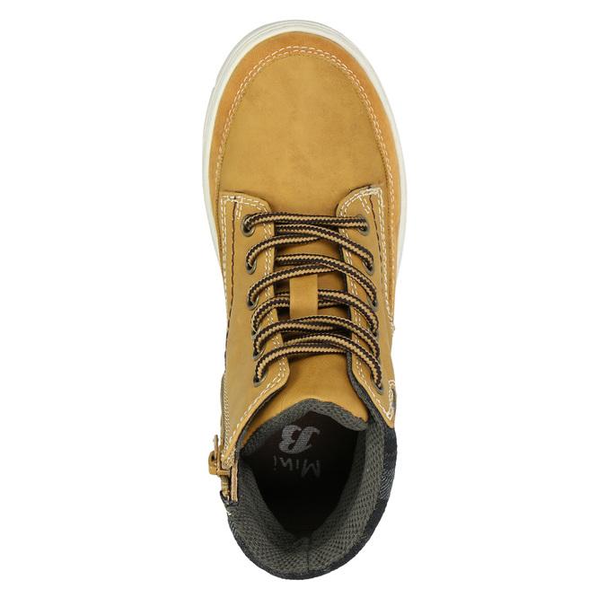 Children's winter boots with distinctive sole mini-b, brown , 311-8611 - 19