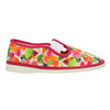 Children's patterned slip-ons bata, pink , 379-5125 - 26