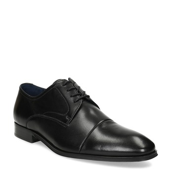 Men's leather Derby shoes bata, black , 824-6406 - 13