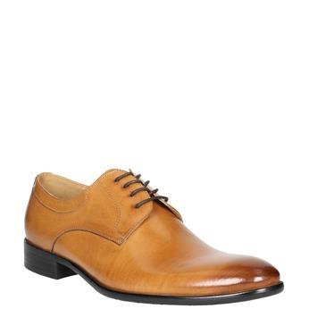 Men's leather Ombré shoes bata, brown , 824-3233 - 13
