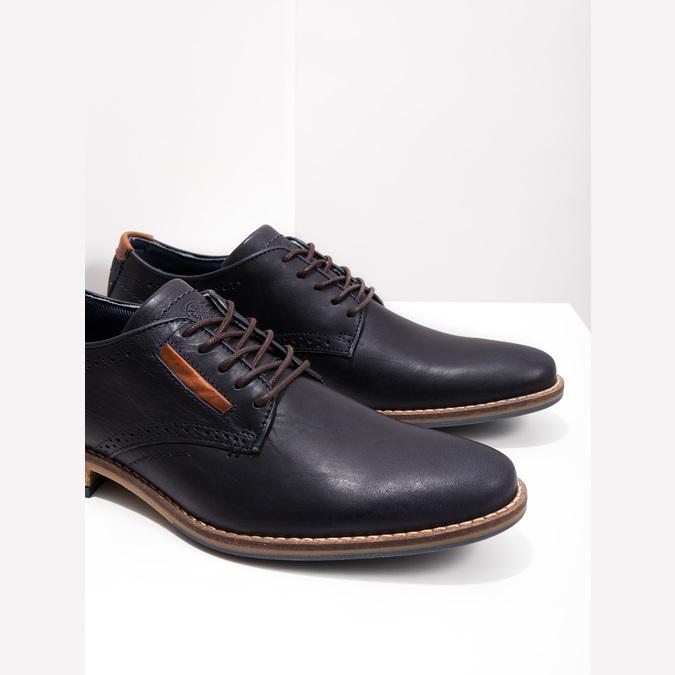 Informal leather shoes bata, blue , 826-9910 - 14