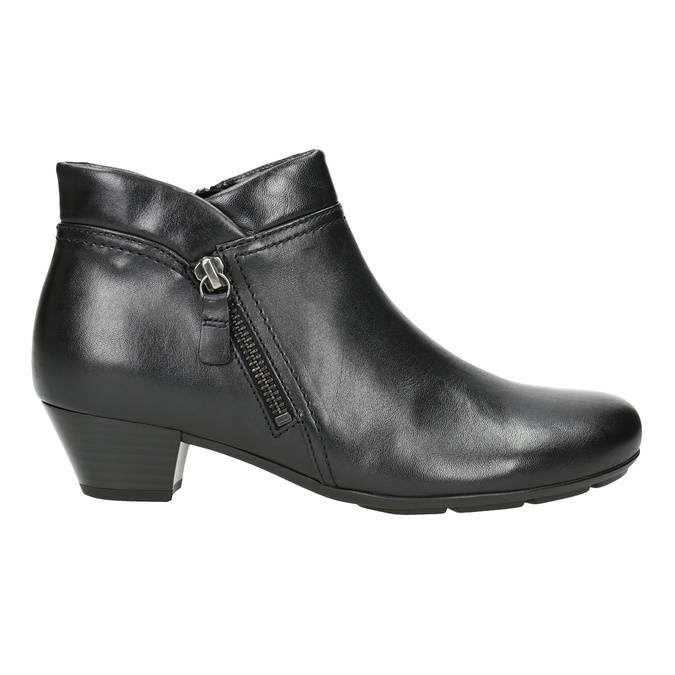 Leather Ankle Boots with Zip gabor, black , 614-6122 - 26