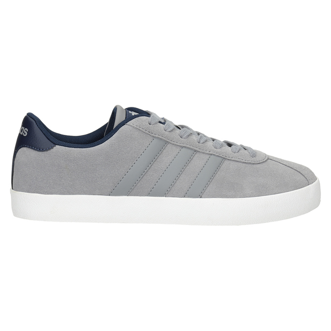 Grey Leather Sneakers adidas, gray , 803-7197 - 26