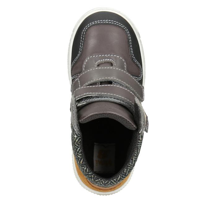 Leather high-top sneakers mini-b, brown , 214-4203 - 15