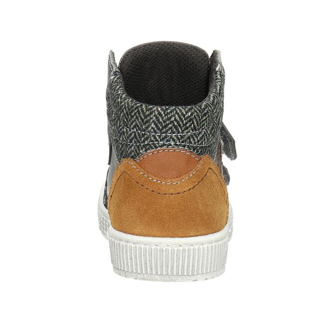Leather high-top sneakers mini-b, brown , 214-4203 - 16