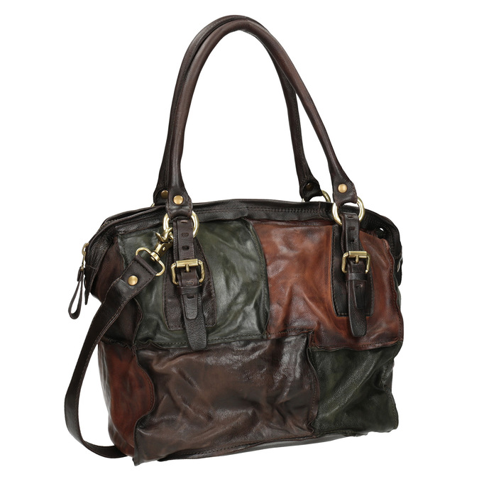 A.s. 98 Leather Patchwork Handbag - Leather Handbags